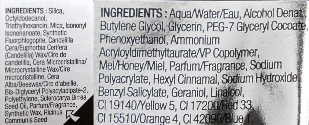 The Body Shop Honey Bronze ingredients