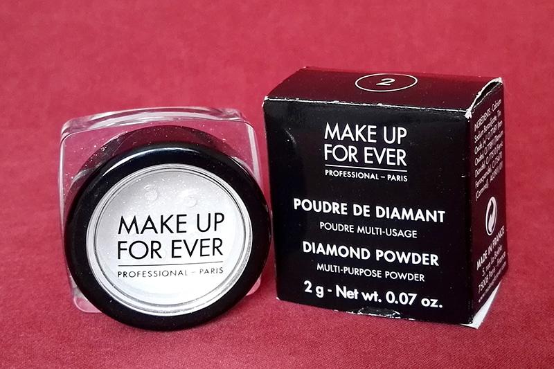 Diamond powder makeup