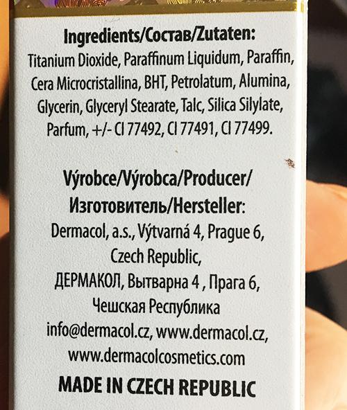 dermacol_foundation_ingredients