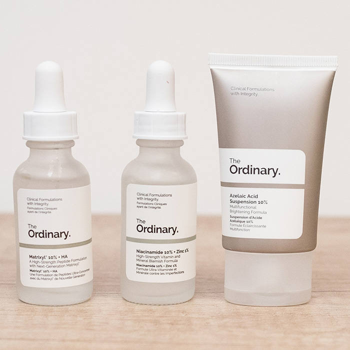 produsele the ordinary matrixyl niacinamide acid azelaic