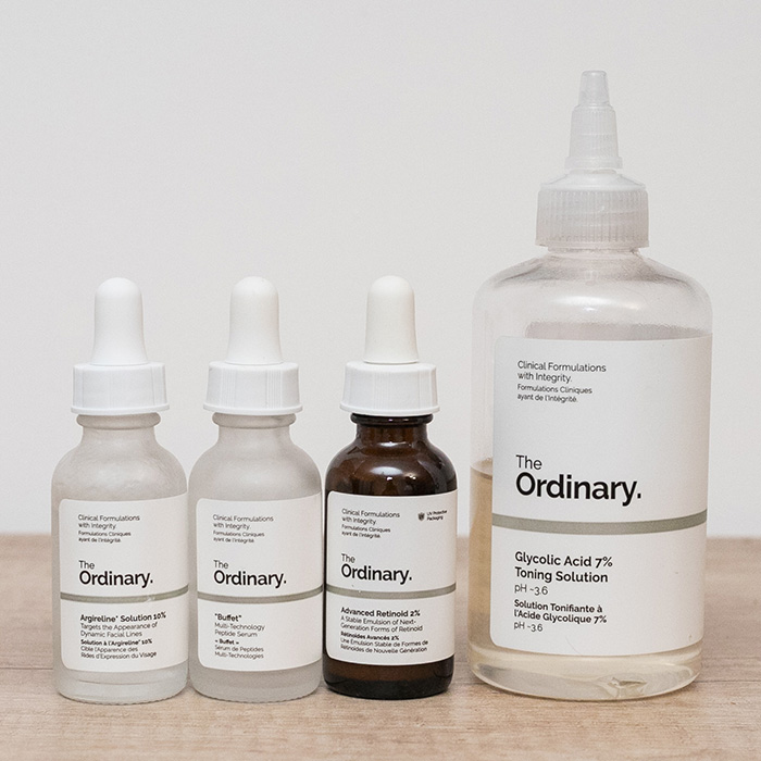 the ordinary argireline buffet retinoid 2% acid glicolic