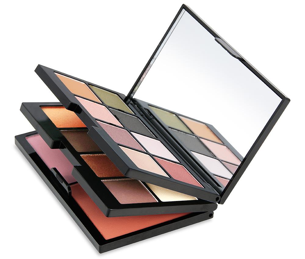 Paleta cadou_ Contine_16 farduri de pleoape, 2 farduri pentru obraz, oglinda