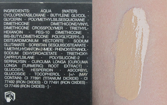 nars sheer glow foundation_punjab_ingredients and swatch