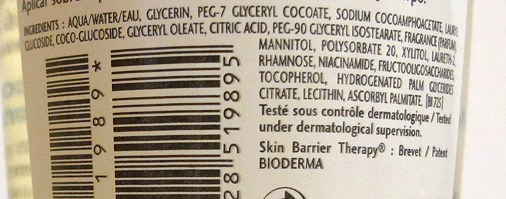 bioderma atoderm ulei de dus ingrediente