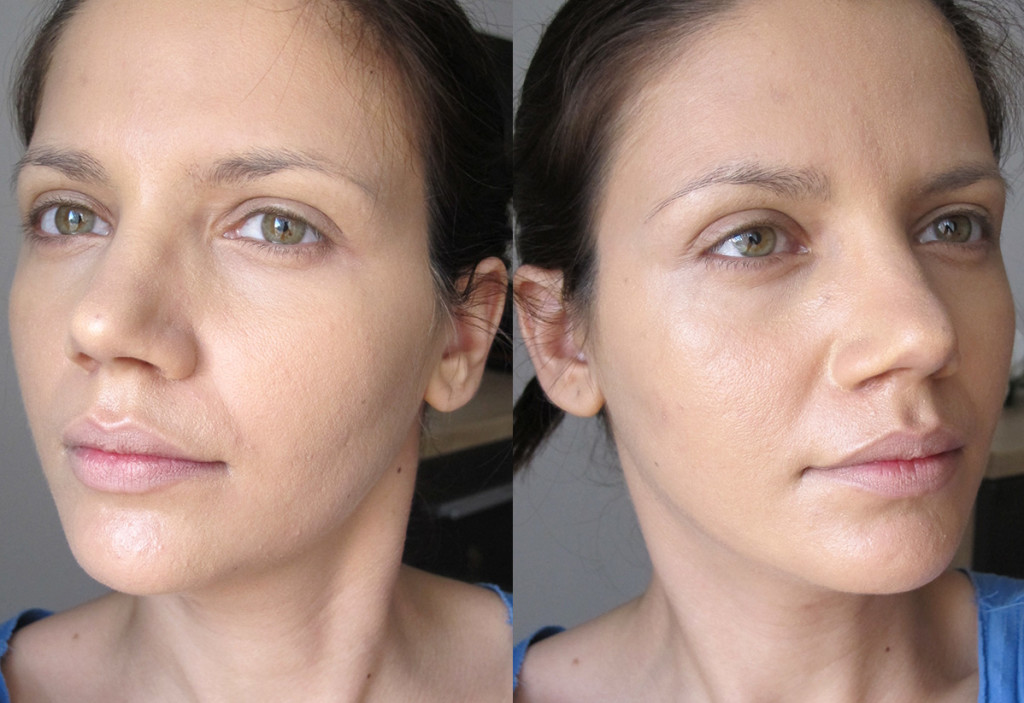 illamasqua_rich_liquid_foundation_before_after_mixed_with_oil