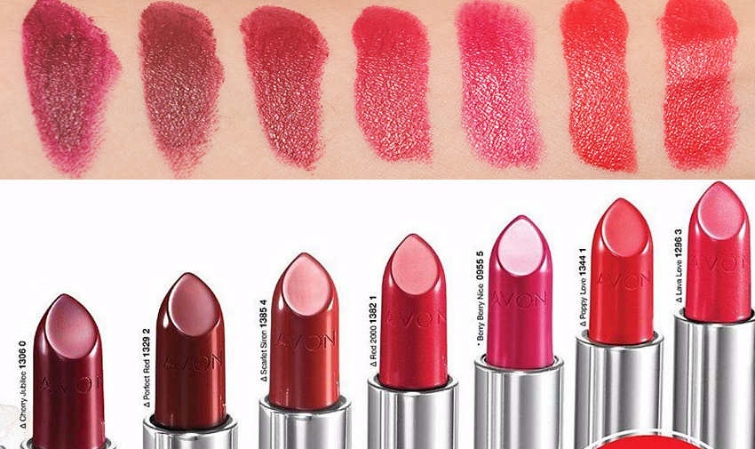 avon true colour perfect reds swatch